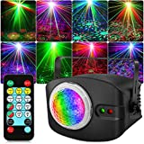DJ Laser Light, OPPSK RGB Laser DJ Disco Lights, Remote & Sound Activated, 48 Lighting Effects for Wedding Birthday Dance Party Stage Lighting