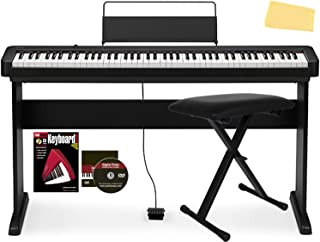 Casio CDP-S150 88-Key Compact Digital Piano Bundle with CS-46 Stand, Adjustable Bench, Sustain Pedal, Instructional Book, ...