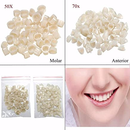 Teeth Whitening 3 Packs Dental Materials Mixed Type Temporary Crown Front Anterior Veneer Nature Color Teeth Dentist Products Oral Hygiene