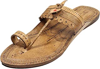 KALAPURI Authentic Pure Vegetable Tanned Leather with Tiny Veni Braids Upper and Leather stictching Traditional Hand Punch...