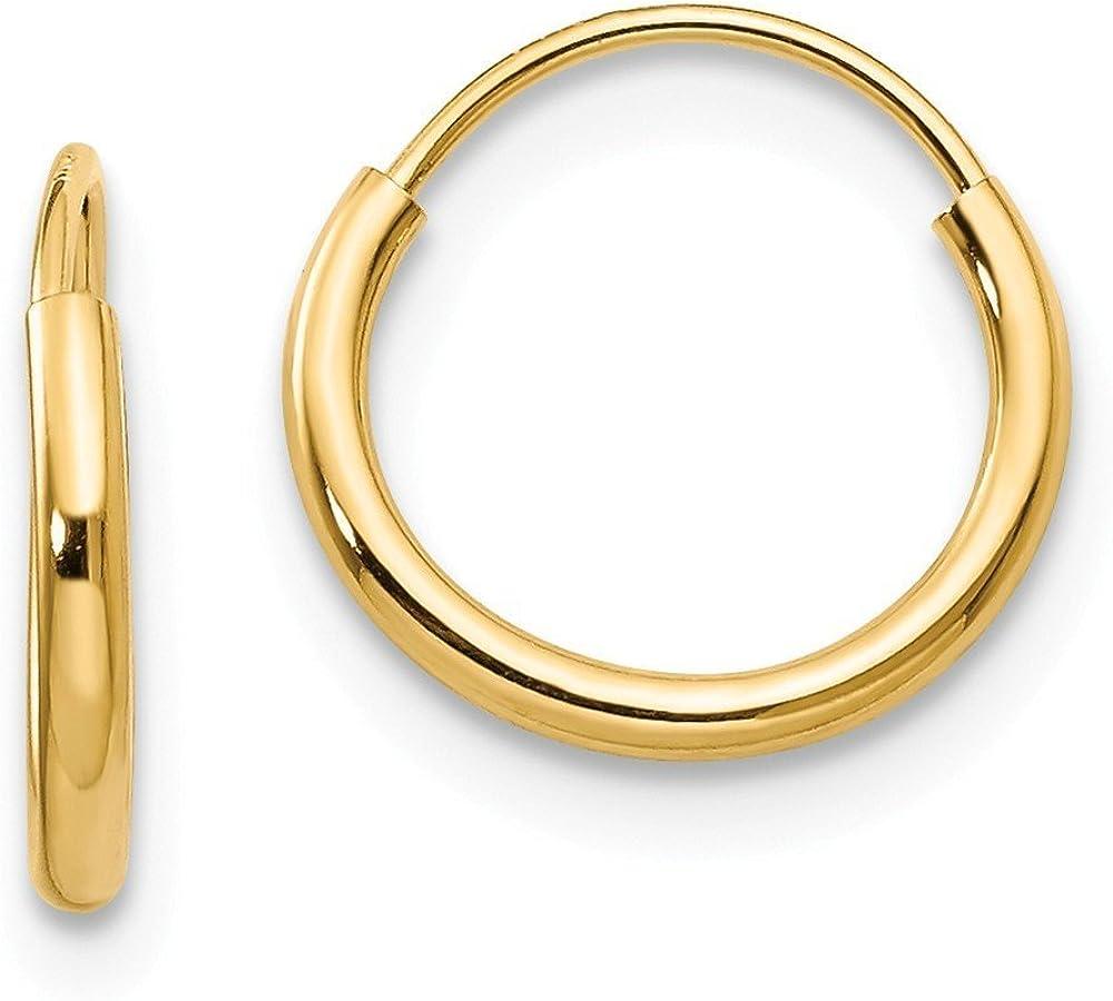 14K Yellow Gold Madi K 8mm Round Endless Hoop Earrings