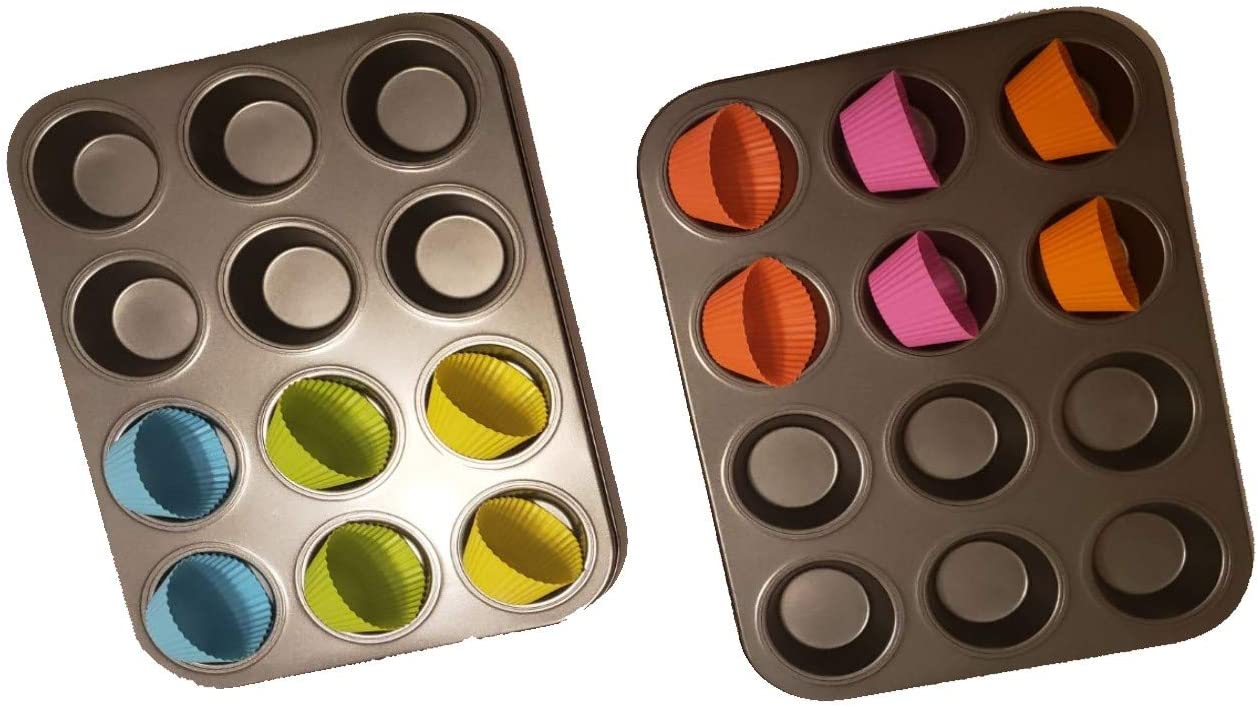 Professional Non Stick Muffin Time sale Ranking TOP8 Pan Cupcake 2 Molds 1 pcs