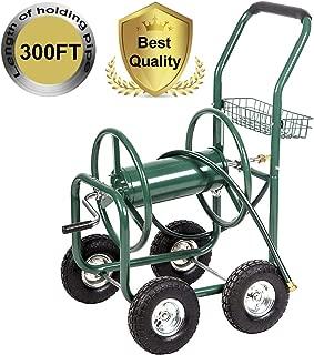 PayLessHere Garden Water Hose Reel Cart Garden Cart with Heavy Duty 300FT Hose Yard Water Planting