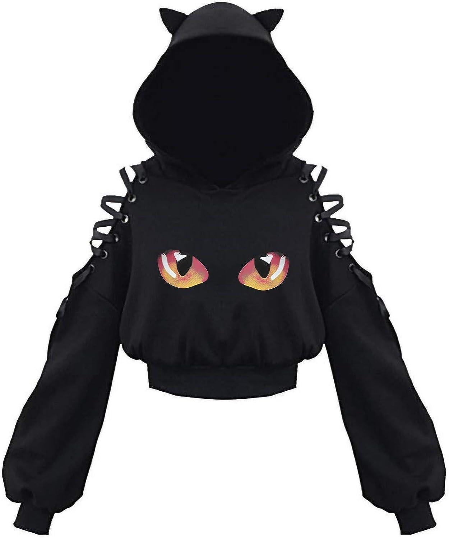 Nulairt Crop Hoodies for Max 47% OFF Women Max 41% OFF Hooded Long Sleeve Sweatshirts Ca