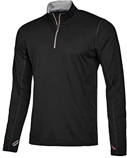Men's Quarter Zip Pullover Activewear Shirt Long Sleeve Slim Fit Cycling Jersey Running Athletic Sweatshirt
