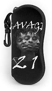 21 Savage 666 Head Glasses Soft Case Ultra Light Neoprene Zipper Eyeglass Case Alffe