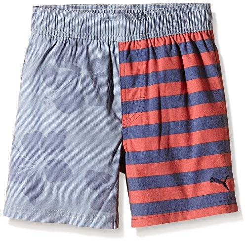 Puma Jungen Badeshorts Fun Hibiscus Beach Shorts B, Peacoat, 104, 512430 02