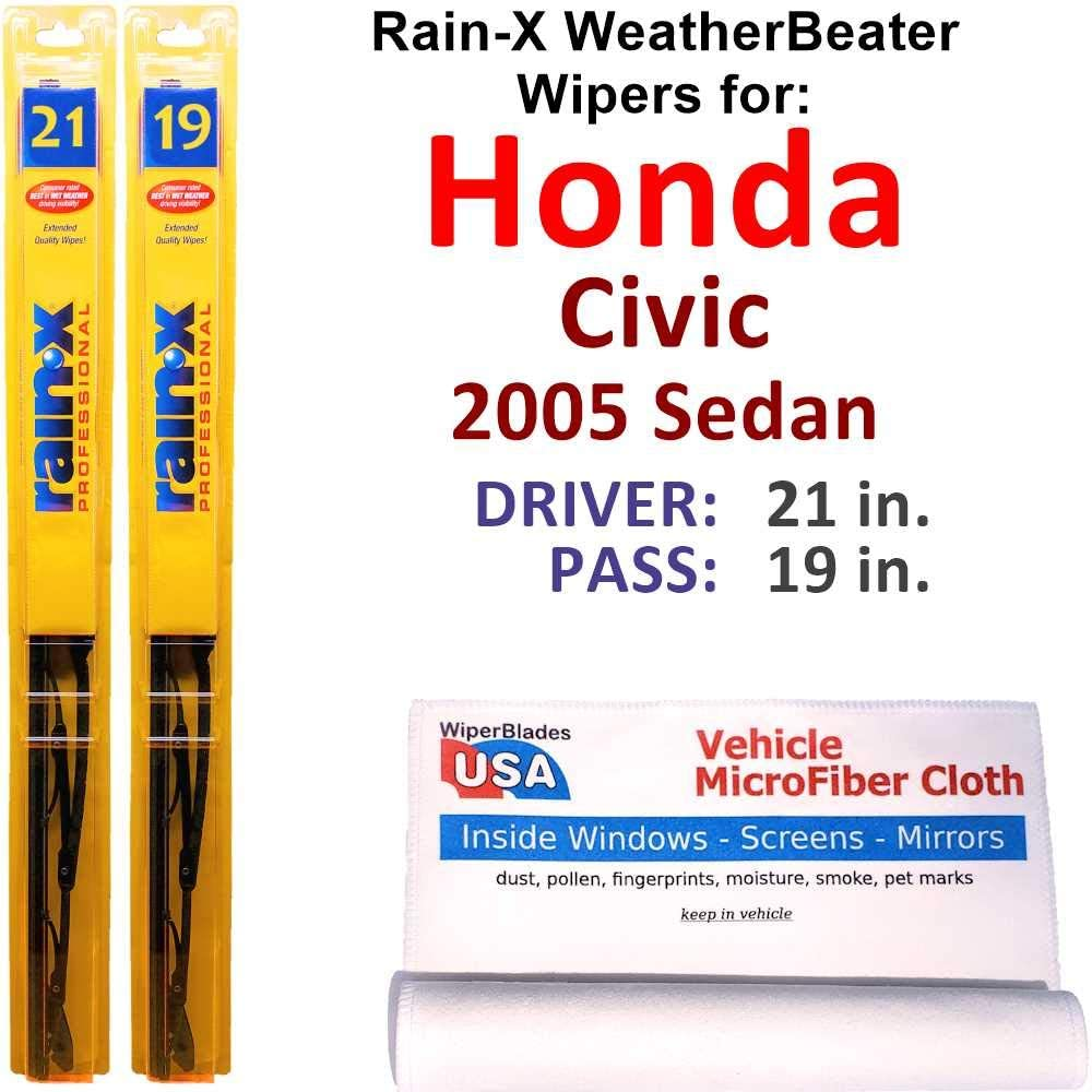 Rain-X Traditional Same Milwaukee Mall day shipping Steel Wiper Blades Value Civic Honda for 2005