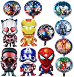 Superhero Birthday Party Foil Balloon 12 Pack Avengers Super Hero Birthday Party Supplies Party Decorations