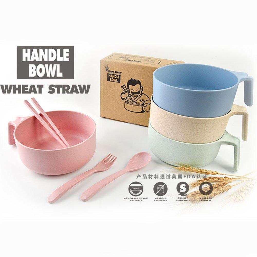 Juego de bol para cereales, penvi paja de trigo vajilla cereales ...