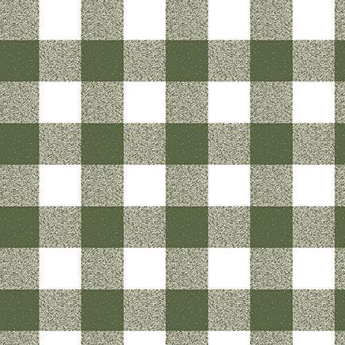 KEVKUS Oliedoek tafelkleed per meter geruit groen P107-3 selecteerbare maat in hoekige ronde ovaal 5 m x 140 cm eckig Groen