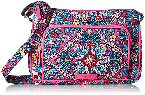 Vera Bradley Signature Cotton Little Hipster Crossbody Purse with RFID Protection, Kaleidoscope
