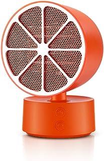 DIOE Mini Calentador eléctrico de cerámica PTC, Forma única, protección contra la inclinación, ángulo Ajustable, sin luz y bajo Nivel de Ruido, Naranja