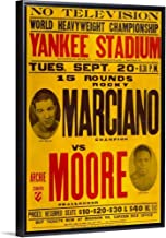 Marciano vs Moore Black Floating Frame Canvas Art, 22