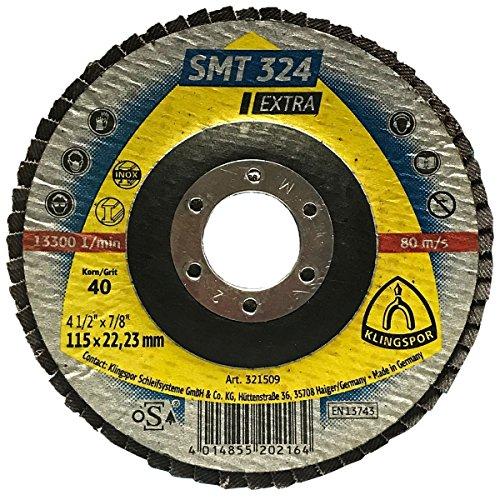 KLINGSPOR 10981 Schleif Fiberscheibe CS 561 115 x 22 mm Korn 40