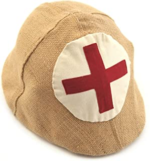 World War Supply Jute Cover with Medic Cross for German WW1 M1916 Stahlhelm Helmet Cover ONLY