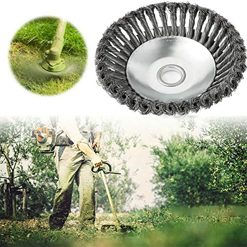 Buy Bargain ADW Steel Wire Wheel Brush Grass Trimmer Head Weed Cleaning Garden, Indestructible Trimm...