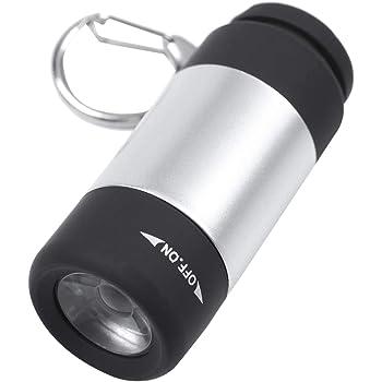 Torcia a LED ricaricabile Mini USB 3 modalit/à Livelli di torcia a fascio di luce intensa Focalizzazione del raggio ultra brillante Zoom Oro