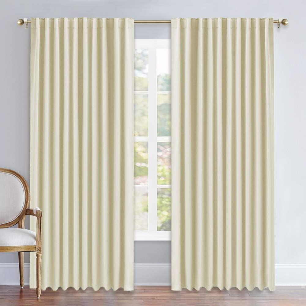 NICETOWN 超人気 Room Darkening Curtains for お気に入 B Rod Pocket Living