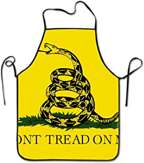 KDJGVM133 Cooking Apron Kitchen Apron Bib Aprons Dont Tread On Me Chief Apron Home Easy Care for Kitchen, BBQ, and Grill