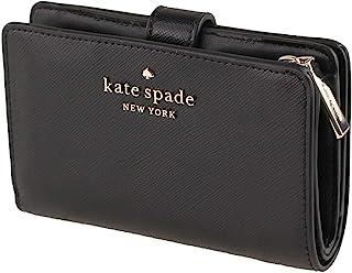 Kate Spade New York Staci Medium Compact Bifold Wallet Saffiano Black