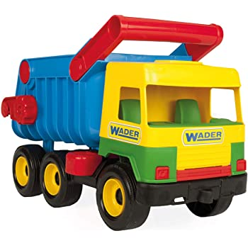 Wader 32051 - Middle Truck Kipper mit arretierbarer Mulde, ab 12 Monaten, ca. 38 cm