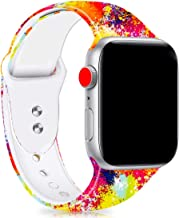 Veczom Bands Compatible with Apple Watch Series 4 Band 44mm 42mm, Soft Silicone Fadeless Pattern Printed Replacement Sport Bands for iWacth Series 3 2 1 for Women Men (Scrawl, 42mm/44mm)