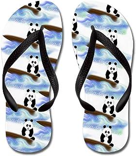 c33e6ff56 CafePress - Surfing Panda Bear - Flip Flops
