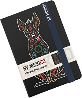 BY MEXICO, Libreta Rayada modelo Xoloescuincle negro