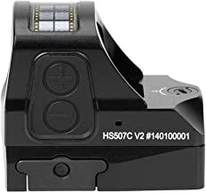 Holosun HS507C-V2 Multi-Reticle 2 MOA and 32 MOA Circle Parallax Free Pistol Red Dot Optical Sight with Solar Failsafe and...