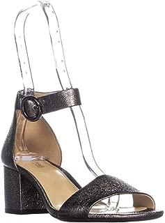 Michael Michael Kors Womens Lena Open Toe Ankle Strap, Gunmetal, Size 8.5