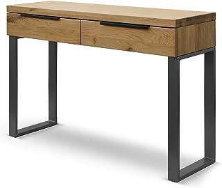 COMIFORT Mueble Recibidor - Consola Moderna de Estilo Minimalista e Industrial Mesa de Entrada de Madera de Roble Macizo ...
