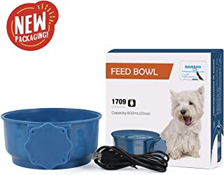 Namsan Heated Pet Bowl Indoor Hanging Dog Thermal-Bowl Water Food Heating Cat Bowl for Chicks, Squirrel, Small Dogs