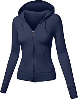 63d2857cc38 Meilleur Mode Women s Long Sleeve Basic With Plus Size Hood Jacket
