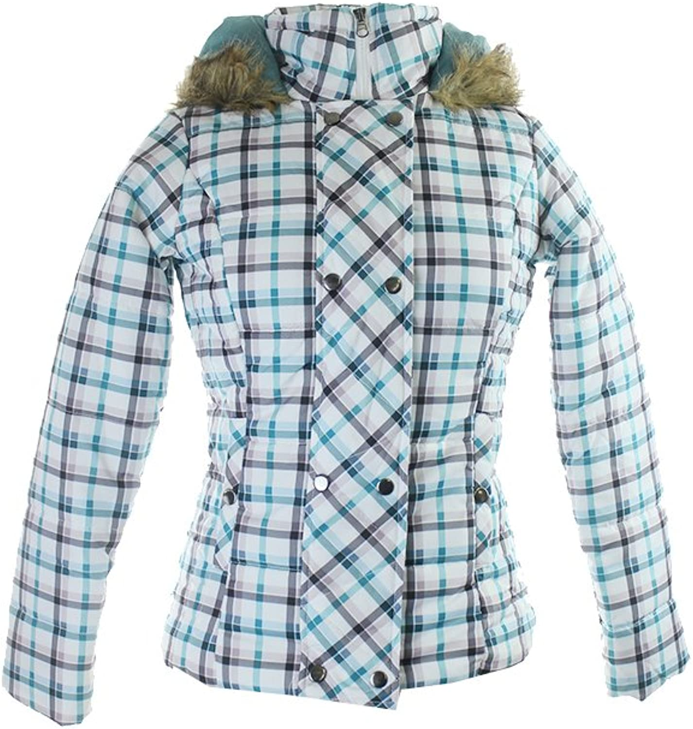 Krush Women's Hooded Double Breasted Printed Puffer Jacket