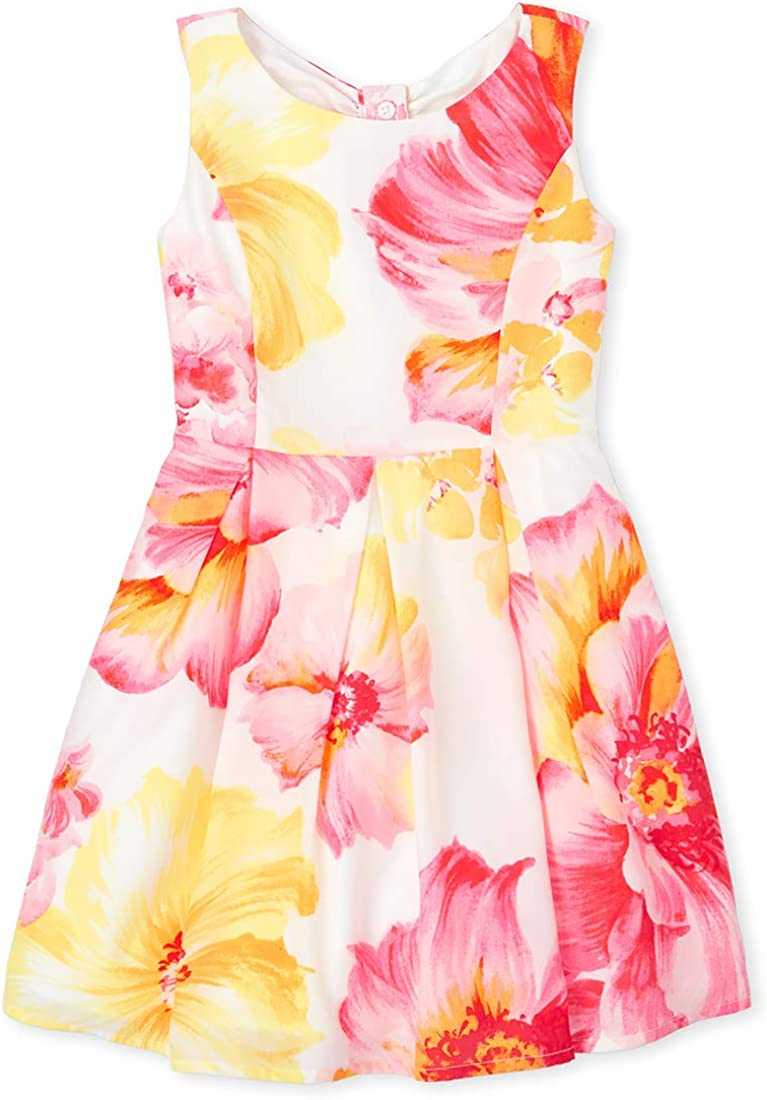 The Children's Place Girls' Minneapolis Mall Floral Dress Super popular specialty store Fit And Flare