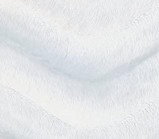 white fake fur