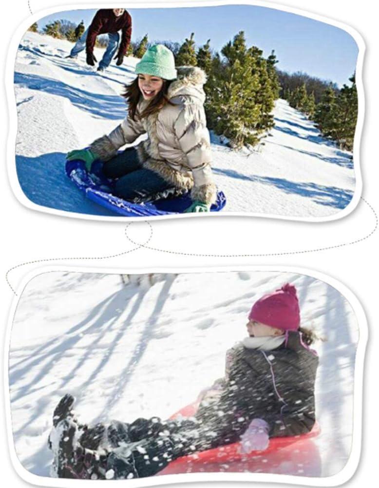 Erwachsener Kinderschneemobil QINAIDI Dickes Rundes Snowboard Sandrutsche Erwachsener Schlitten Kinderski Doppel-Skiring Kinderski Schnee Fliegende Untertasse