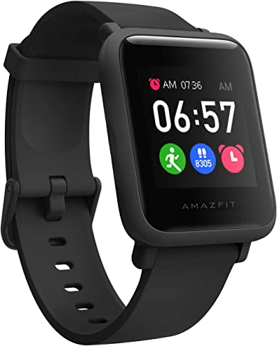 Amazfit Bip S Lite Smart Watch 30 Days Battery Life 150 Watch Faces Always on Display 30g Lightweight 5 ATM Water Resistance 8 Sports Modes Charcoal Black