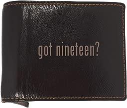 got nineteen? - Soft Cowhide Genuine Engraved Bifold Leather Wallet