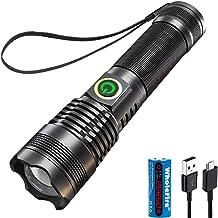 WholeFire XHP70 High Power Zaklamp 5000 Lumen USB Oplaadbare Krachtige Zaklamp Met Zoomable, Waterdicht, 5 Modi voor Campi...