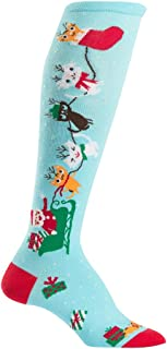 Knee High Funky Socks: Seasons Greetings - Christmas Holiday