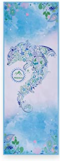 CXQ Yoga Towel Sweat-Absorbent Anti-Slip Mat Towel Beginners Dolphin Printing Fitness Mat Towel