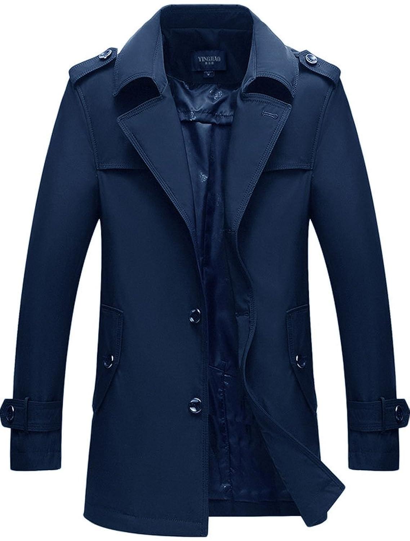 (モダンミス)Mordenmiss 春 コート メンズ/上質 バーバリー ツイル トレンチコート メンズ 春服 秋 冬 防寒/ダブルブレスト 綿 ギャバジン コーデ coat