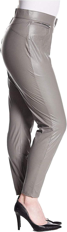 Hue Women's Leatherette Faux Leather Leggings (Plus Size) Filament Grey