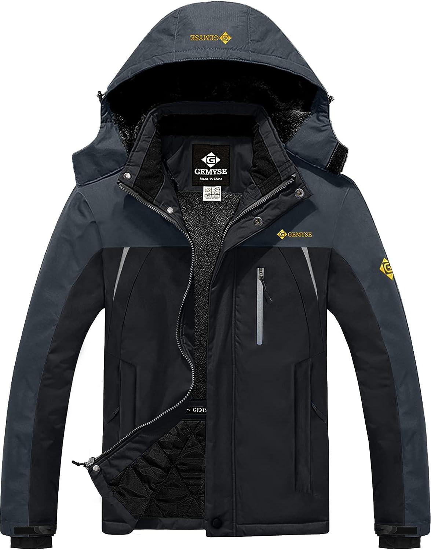 GEMYSE Men's Mountain Waterproof Ski Snow Windproo Columbus Mall Jacket Translated Winter