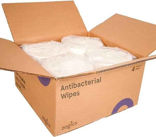 Zogics 抗菌湿巾 EPA 注册表面和健身房设备消毒湿巾 4 卷 3200 湿巾