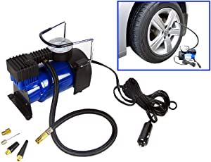 Hyfive Heavy Duty Metal Electric Car Air Compressor Pump Portable Tire Tyre Inflator Cooper Winding  12V Dc  150Psi Min Air Flow