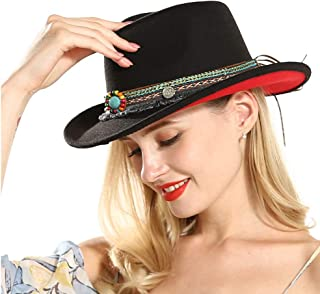 Sun Hat for men and women Women Western Cowboy Hat With Tassel Ribbon Wool Wide Brim Hat Jazz Hat Sombrero Cap Size 56-58CM Sunbonnet