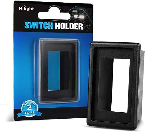 Nilight LED Light Bar Rocker Switch Holder Panel Switch Holder Housing Kit ABS Plastic Black Automotive Mount Toggle Switch Housing,2 years Warranty, 1PCS Switch Panel (90011A)
